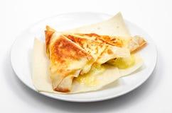 Pita Bread asada a la parrilla con queso Imagen de archivo