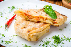 Pita bread with cheese Stock Photography