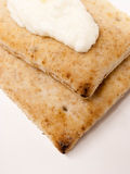 Pita Bread with Cheese Spread Royalty Free Stock Image