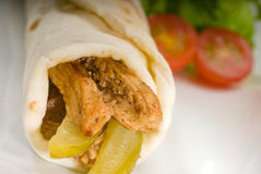 Pita bread chicken roll Royalty Free Stock Images