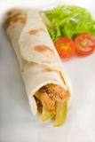 Pita bread chicken roll Stock Photography