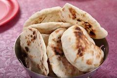 Pita Bread, flatbread leudado, pan árabe, pan libanés Fotos de archivo libres de regalías