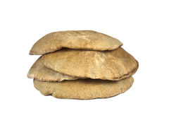 Pita Bread Isolated On White Royalty Free Stock Photography