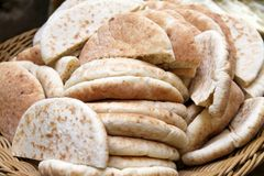 Pita bread from Israel Royalty Free Stock Images
