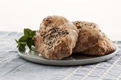 Pita Bread med frö Arkivbild