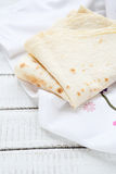 Pita bread on a napkin Royalty Free Stock Photo