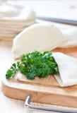 Pita bread with parsley Stock Photo