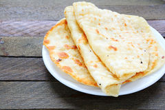 Pita bread on a plate Stock Photos