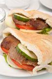 Pita bread sandwich Royalty Free Stock Photo