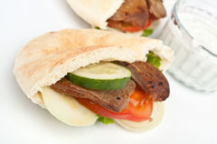 Pita bread sandwich Royalty Free Stock Images
