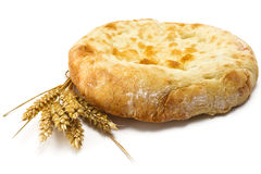 Pita bread and spikelets Stock Image