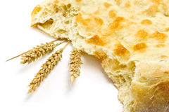 Pita bread and spikelets Stock Photography