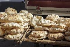 Pita bread in street ,Cairo Stock Photography