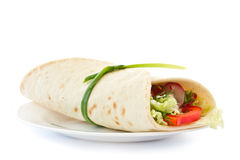 Free Pita Bread Stuffed With Vegetables Royalty Free Stock Images - 23887189