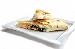 Pita bread with suluguni Royalty Free Stock Images