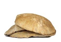 Pita Bread. Three Pita Bread Isolated On White Background Royalty Free Stock Photography