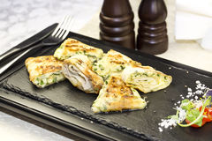 Pita bread with vegetables Royalty Free Stock Photos