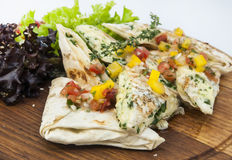 Pita bread with vegetables Stock Image