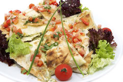 Pita bread with vegetables Royalty Free Stock Images