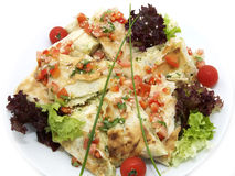 Pita bread with vegetables Royalty Free Stock Photo