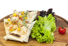 pita bread with vegetables Stock Photo