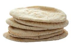 Pita Breads en una pila Foto de archivo libre de regalías