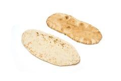 Pita Brot getrennt auf Weiß Stockfoto