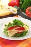 Pita with cheese Stock Photo