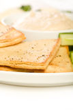 Pita chip and Vegetable Platter Stock Photo