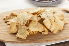 Pita Chips crocante caseiro Imagem de Stock