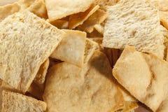 Pita Chips crocante caseiro Imagens de Stock Royalty Free