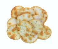 Pita Chips Garlic Chives Group Stock Photo