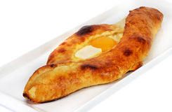 Pita con formaggio e le uova Fotografia Stock