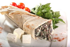 Pita with filling Royalty Free Stock Photo