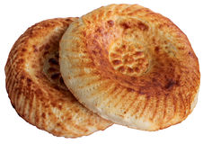 Pita. Fresh bread on a white background Stock Images