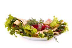 Pita with greenery Stock Photos