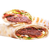 Pita - grilled meat and vegetables Royalty Free Stock Images