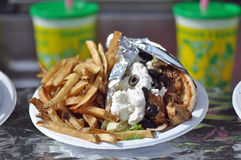 Pita Gyro. For sale at the North Carolina State Fair Grounds in Raleigh royalty free stock photos