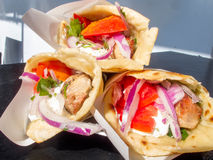 Pita Gyros Souvlaki Stock Photo