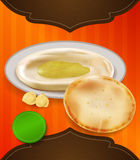 Pita and hummus flyer. Stock Images