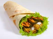 Pita. Kebab. Burrito Stock Images