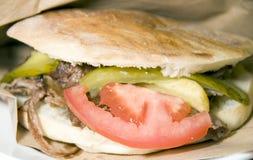 Pita Kreiselkompass-Fleischsandwich Istanbul die Türkei Lizenzfreie Stockbilder