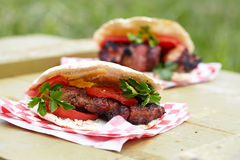 Pita with meat Royalty Free Stock Photos