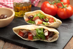 Pita with meat and vegetables Royalty Free Stock Photography