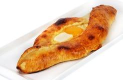 Pita mit Käse und Eiern Stockfotografie