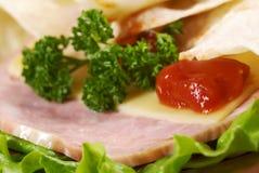 Pita Sandwich with cheese,ham Stock Photography