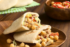 Pita Sandwich with Chickpea and Tuna Stock Photos