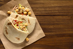 Pita Sandwich with Chickpea and Tuna Royalty Free Stock Photography