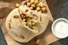 Pita Sandwich with Chickpea and Tuna Stock Images