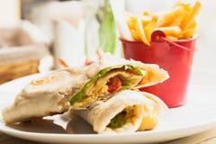 Pita sandwich Stock Images